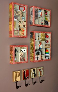 Configuration Boxes filled with vintage and small game pieces and toys - (image 4 of 4)