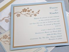 Wedding Invitations - Light and Elegant   Bee Inspired Handmade – Bee Inspired Handmade Wares