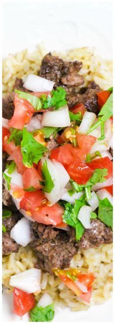Fajita Bowl Recipe | Tex Mex Recipe Bowl | Tex-Mex Rice Bowl | Stacked Rice Bowls