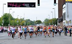Runners during the #Race for the #Cure finish strong. #pink #komen