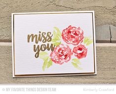 For the Love of Paper: 4 ways to create images with Watercolor Flowers: MFT Stamps June New Product Launch