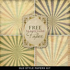 FREE Freebies Old Style Papers by Far Far Hills