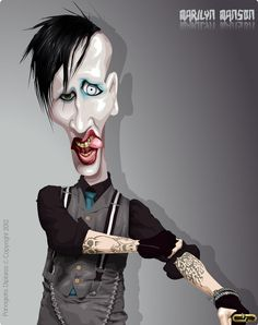Marilyn Manson(Brian Hugh Warner)caricature