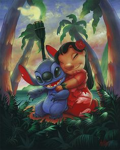 Lilo and stitch painting lilo and stitch диснеевские темы, л Disney Stitch, Lilo E Stitch, Cute Stitch, Lilo And Stitch Drawings, Lilo And Stitch Quotes, Cute Disney Wallpaper, Cartoon Wallpaper, Disney Drawings, Art Drawings