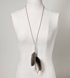 feather chain necklace