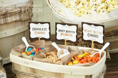 Rustic Popcorn Bar Collection Printables by penandpaperflowers Popcorn Toppings, Popcorn Seasoning, Popcorn Balls, Candy Popcorn, Flavored Popcorn, Popcorn Recipes, Sweet 16, Barbecue Pizza, Bbq