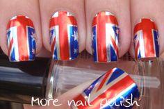 More Nail Polish: Australia Day - Chi chi nail foils