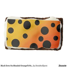 Black Dots On Blended OrangeToYellow Rectangular Brownie