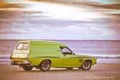 The HQ Sandman panel van is an Australian icon! #sandman #panelvan #holden #1970 #beach #landscapes