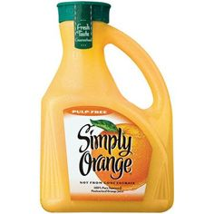 Simply Orange Pulp Free Orange Juice, 2.63 l