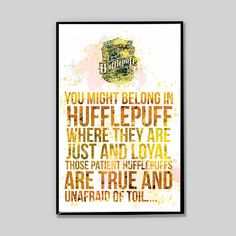 CLEARANCE Hufflepuff watercolor poster, Harry potter, Severus Snape Patronus Print Harry Potter, gift for him, nerd gifts, Movie Poster_33 by InstantGoodVibes on Etsy