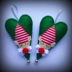 Christmas Elf Felt Hearts