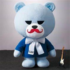 KRUNK × BIGBANG super BIG Plush Doll 2 Krunk Bigbang, Vip Bigbang, Big Plush, All Things Cute, Plush Dolls, Emoticon, Osaka, Smurfs, Kdrama