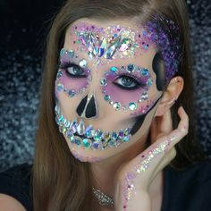 """1,783 Likes, 84 Comments - Abby Roberts (@abbyrobertsartistry) on Instagram: """"CRYSTAL SKULL New video up on my YouTube of a tutorial on this #halloweenmakeup! Link in my bio…"""""""