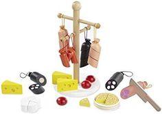 """Kaufladenzubehör """"Wurst und Käse"""" aus Holz von howa 4858"""