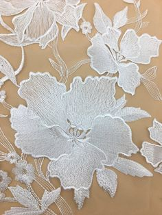 New Arrival Fashion Flower Lace Fabric Elegent Bridal Lace