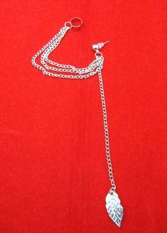 Leaf Chain Tassel Dangle Ear Cuff Wrap Earring