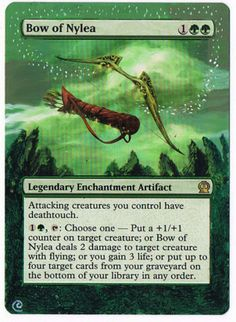 MTG Altered Painted Bow of Nylea Theros FREE SHIPPING http://cgi.ebay.com/ws/eBayISAPI.dll?ViewItem&item=350918932006