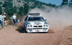 Lancia Delta S4 rally car