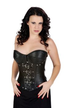 d5695323d10 Amazon.com  SC80016 Shaper Corset Goth Real Leather Overbust Corset Waist  Training Bustier  Adult Exotic Corsets  Clothing