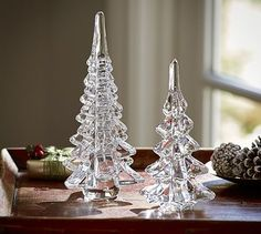 Glass Drop Trees #potterybarn