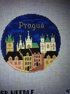 Sweet Needle of Mine, Prague Needlepoint Ornament from Silver Needle