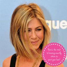 Here's the trick to knowing exactly where to part your hair!