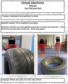 Simple Machines  Wheels  Tire pull & roll