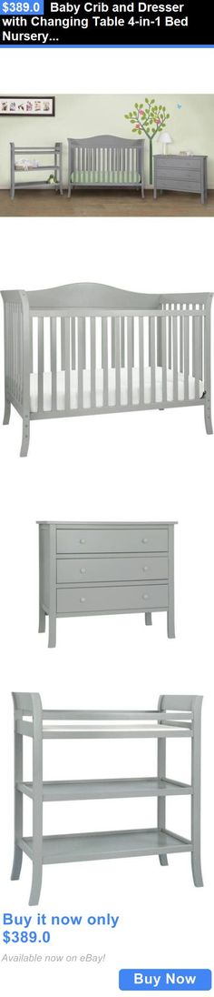 Baby Nursery: Baby Crib And Dresser With Changing Table Bed Nursery Furni Baby Crib Diy, Best Baby Cribs, Baby Crib Mattress, Best Crib, Baby Room Diy, Baby Bassinet, Baby Nursery Furniture Sets, Baby Nursery Bedding, Baby Nursery Decor