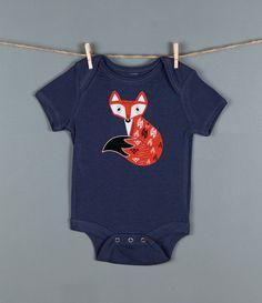 Fox Baby Onesie,  Woodland Fox One Piece Bodysuit Romper Jumper, Adorable Animal Onesies on Etsy, $18.00