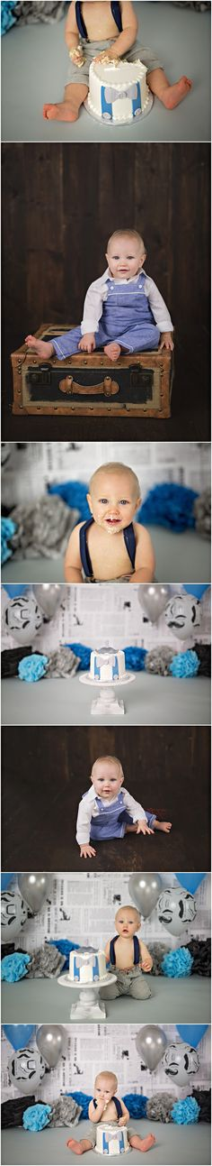 Little Man Cake Smash Michelle Voigt Photography  Bryan / College Station Cake Smash Photographer  Cake: Peace,Love & Cakes  #mvoigtphoto #peaceloveandcakes #cakesmashthemes