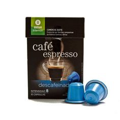 10 Cápsulas Café Descafeinado Oxfam Ecológicas y Biodegradables de Café Descafeinado compatibles con las máquinas Nespresso®*. Café Comercio Justo.