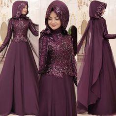 En Şık Pınar Şems Tesettür Abiye Elbise Modelleri | Tesettür Elbiseleri Hijabi Gowns, Hijab Wedding Dresses, Pakistani Dresses Casual, Stylish Dress Designs, Stylish Dresses, Skirt Fashion, Fashion Dresses, Sleeves Designs For Dresses, Abaya Designs