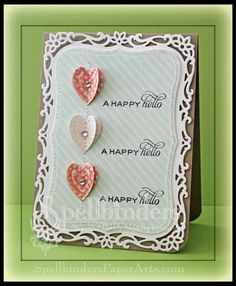 Simple card created with @Spellbinders, @MME inc paper and @Flourishes,llc Jan Marie stamps. Click on image to find blog post with video tutorial.