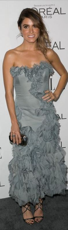 Dress – Marchesa Shoes – Jimmy Choo Jewelry – David Yurman Purse – Carto Moltedo Lance Patent Leather Strappy Sandals Lance Patent Leather Strappy Sandals Jimmy Choo Lance M… Marchesa Shoes, Nikki Reed, Strapless Dress Formal, Formal Dresses, Celebrity Red Carpet, Cool Outfits, October 20, Celebs, Gowns