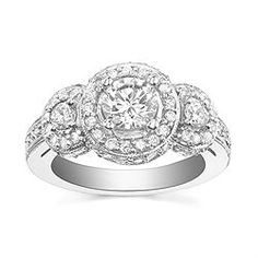 Style 64-S10020 Engagement Ring with 0.89CT side diamonds. 14K yellow or white gold.