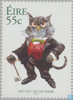 Postage Stamps - Ireland - Celtic Cats