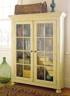 Add the window pane dividers and the ball feet to my cabinet for the same look.