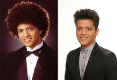 Bruno Mars in 2003 and Now. Hahaha!