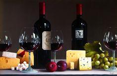 ROBERTO SALAS ARTIST   Originals by Artist Roberto Salas Wine Painting, Still Life Photos, The Originals, Artist, Artwork, Paintings, Collection, Food, Work Of Art