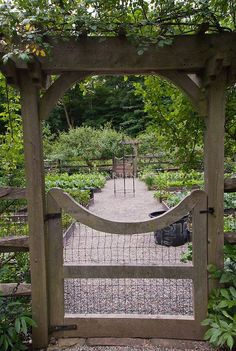 Nice entrance for the potager garden.