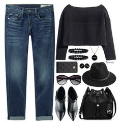 """""""Untitled #2905"""" by naomimjc ❤ liked on Polyvore featuring rag & bone/JEAN, H&M, Kim Kwang, MICHAEL Michael Kors, BeckSöndergaard, Vince Camuto and Chanel"""