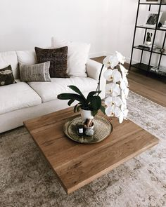 I wonder how long this couch will stay white 💭 any guesses? #SivanSweetHome #decor #home