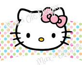 Hello Kitty printable cupcake wrapper PDF