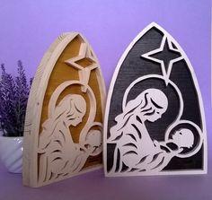 Presepe scena natività in legno, Sacra Famiglia (Cod. NAT008)