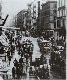 Broadway, New York City, in 1860