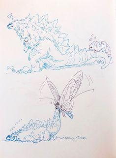 godzilla king of monsters All Godzilla Monsters, Godzilla Comics, Godzilla Godzilla, Monster Art, Monster Hunter, King Kong, Fantasy Creatures, Mythical Creatures, Godzilla Wallpaper