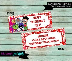 Teen Titans Valentine's Day Valentine Party by InkPaperParties