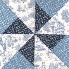 "TLC Home ""Double Pinwheel Quilt Block"""