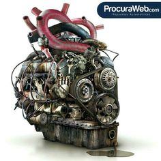 El corazón de tu vehículo es el motor! cuídalo y tu vehículo siempre responderá cuando más lo necesites!  Si necesitas repuestos ubícalos rápida y fácilmente con ProcuraWeb .com  #Carros #Mantenimiento #Talleres #Repuestos